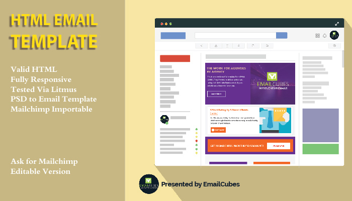 create responsive html email template for $10 - SEOClerks