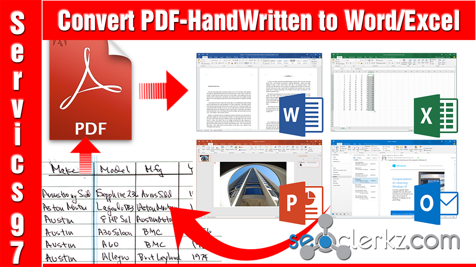 Convert PDF to Word or Excel for $5