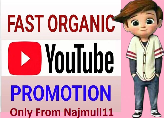 I Will Manually Do High-Quality Youtube Promotion