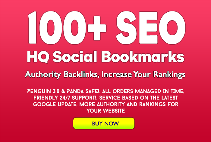 Add 100+ SEO social bookmarking high quality backlinks, rss and ping