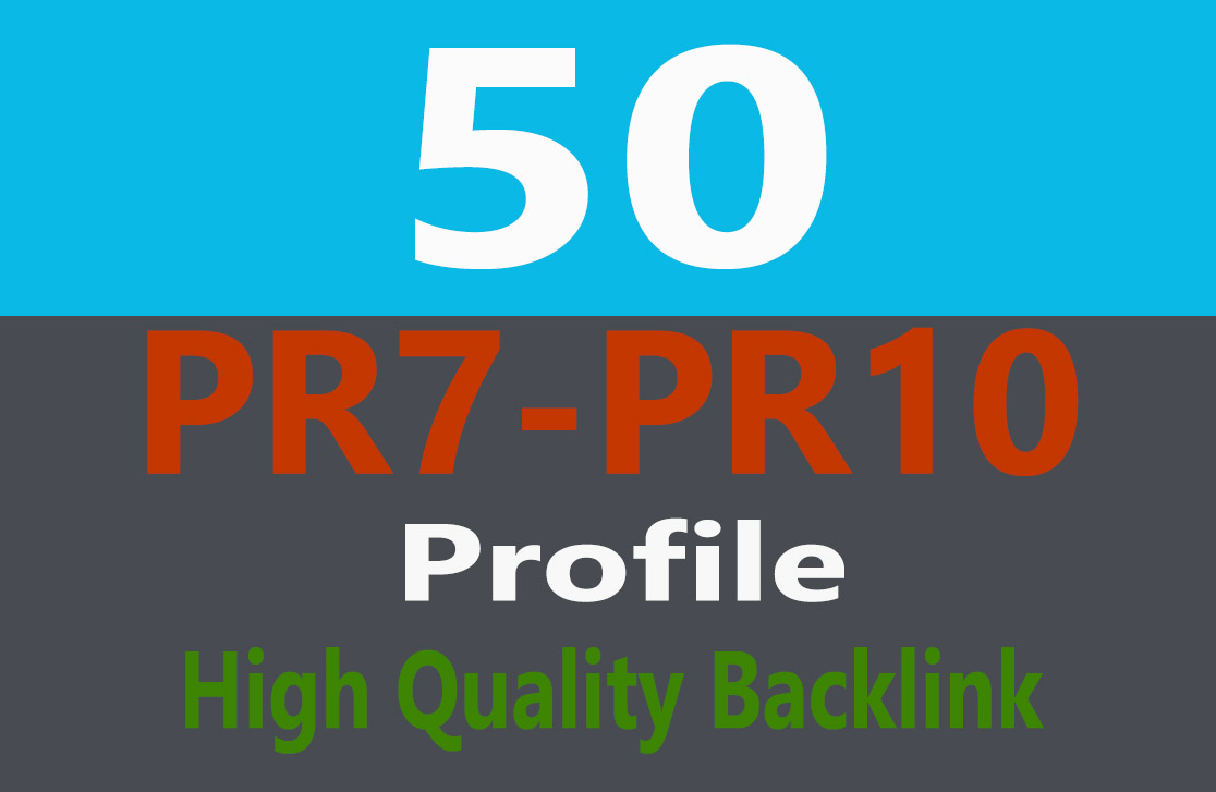 Exclusive Offer 50 High PR1-PR9 or DA 30+ Highly Authorized  BACKLINKS
