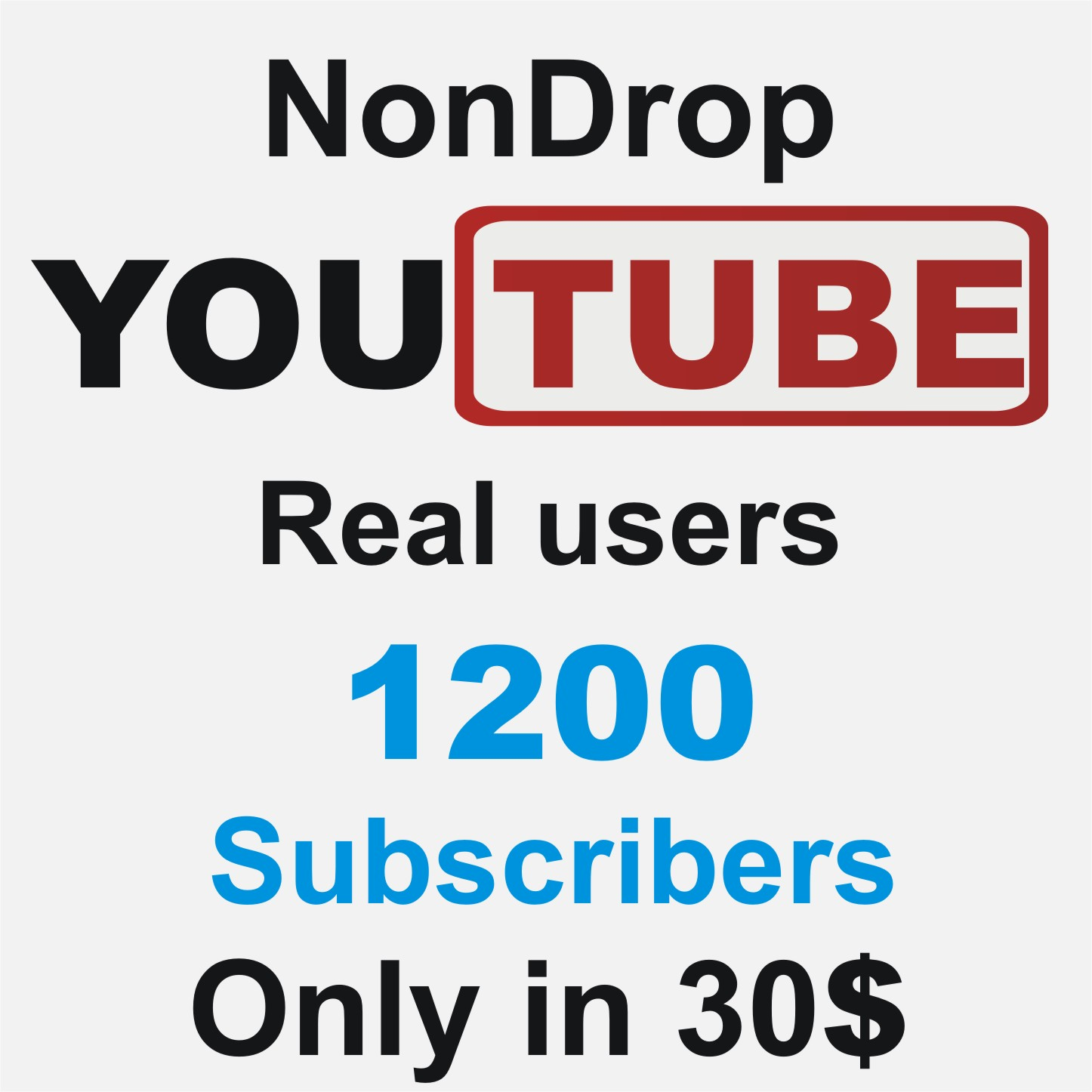 Add 100 Real Non Drop YouTube sub scribers