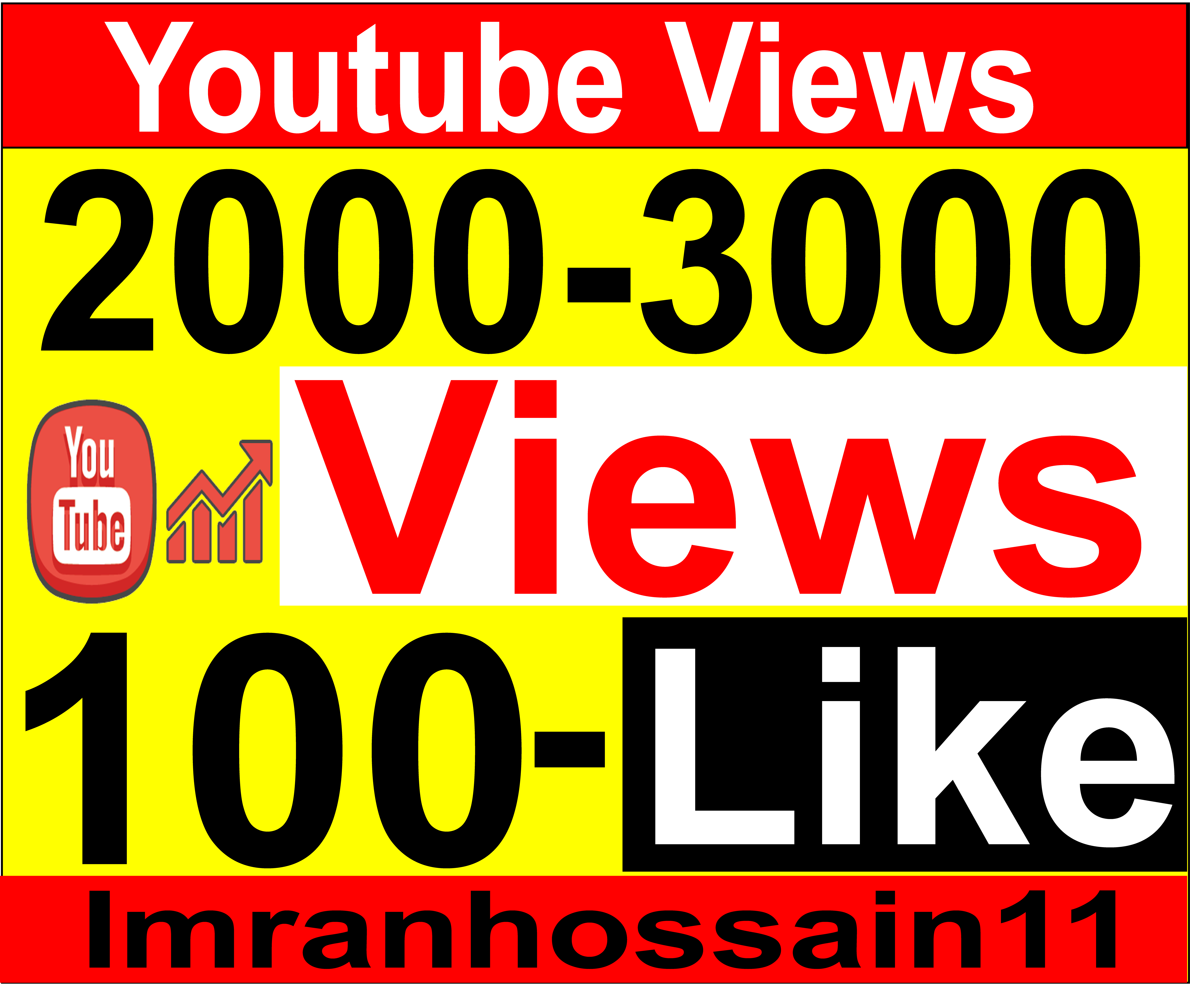 Guaranteed Nondrop 2,000 to 3,000 Real High Retention Youtube Vie ws