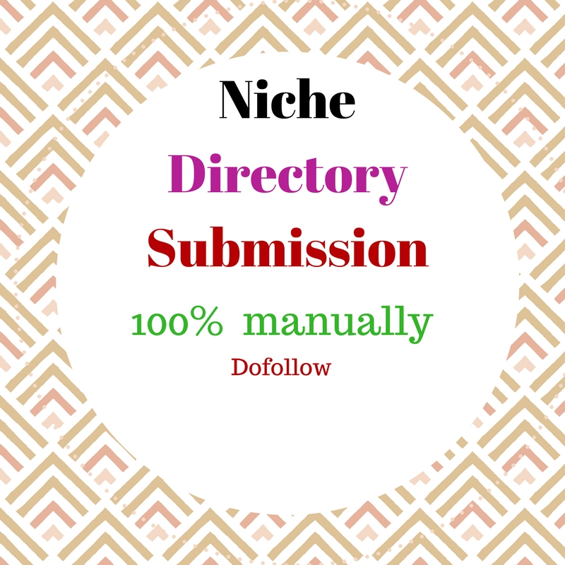 do 70 niche directories submission 100 percent manual...