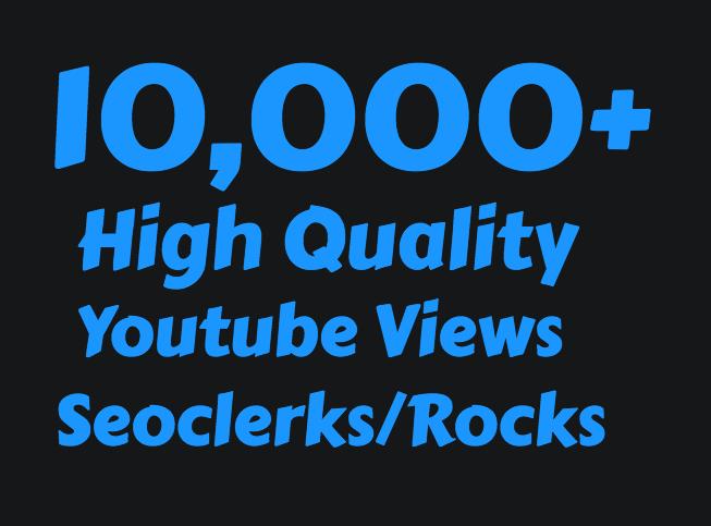 I will add Super Fast 10,000+ High Quality Youtube Vie ws