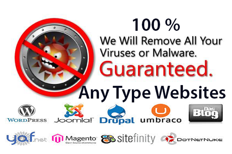 Remove all malware,  Hacked site or Malicious code from any type website
