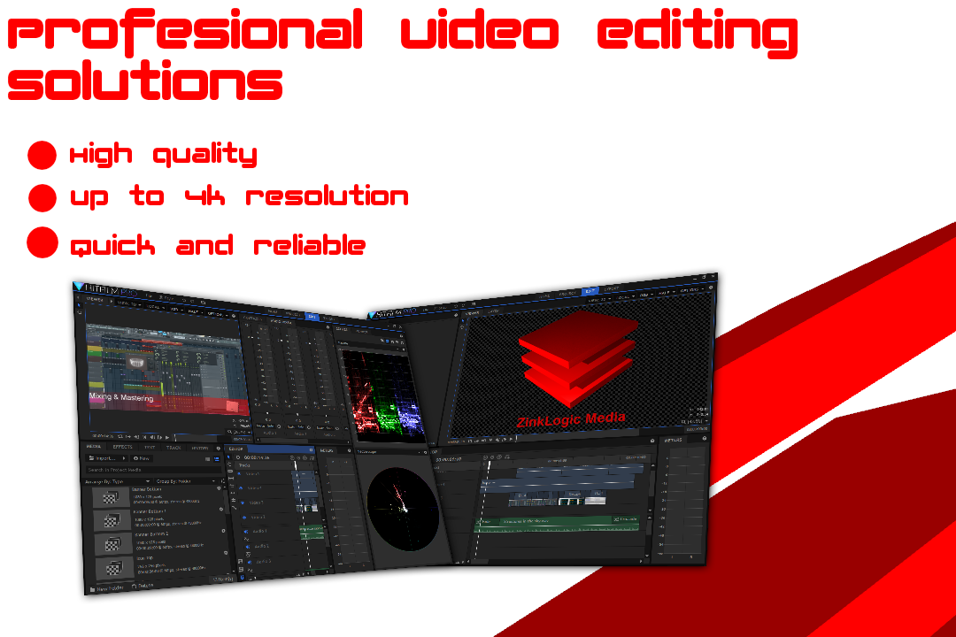 Get your video edited Resolutions up to 4k
