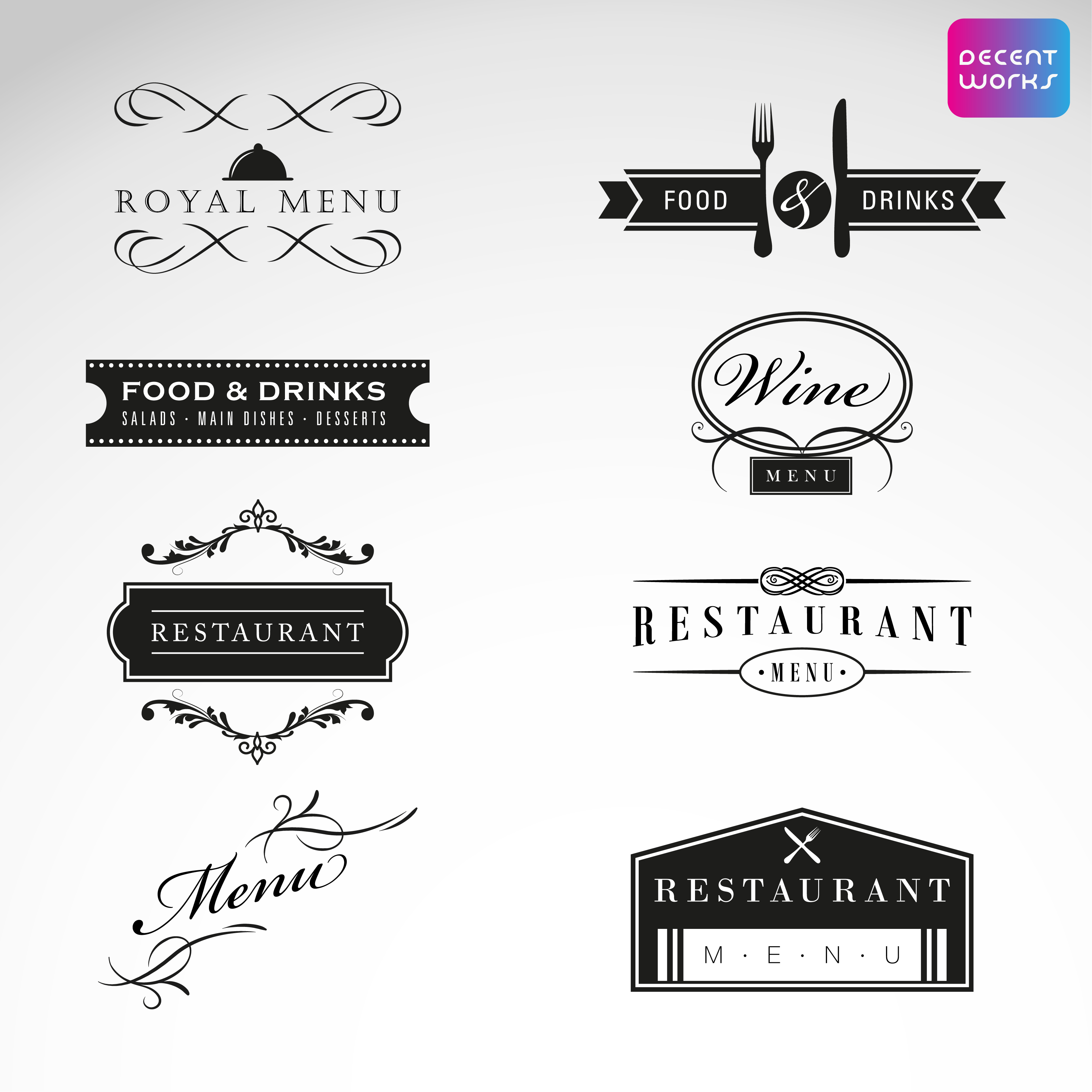 4 logo with business card high quality transparent background in