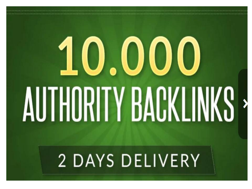 10,000 authority backlinks for Google Ranking