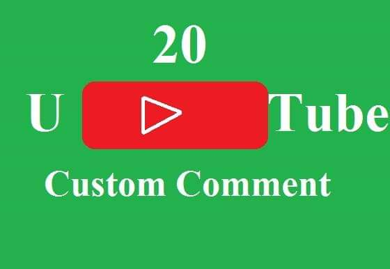 Instant 20 custom comments fast in time 2-3 Hours