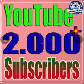 2000+ YouTube subscribers Guaranteed non Drop