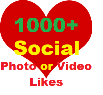 500+ Social Likes on Pics, Videos, High-quality Promotion Instant Start