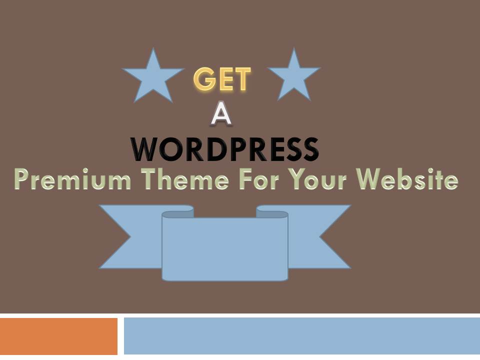 Will Provide You A Premium WordPress Theme, Install it, and Customize as Demo.