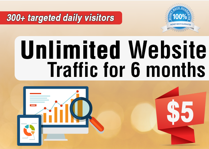 Unlimited Website Traffic For 6 Months - Trackable on Google Analytics