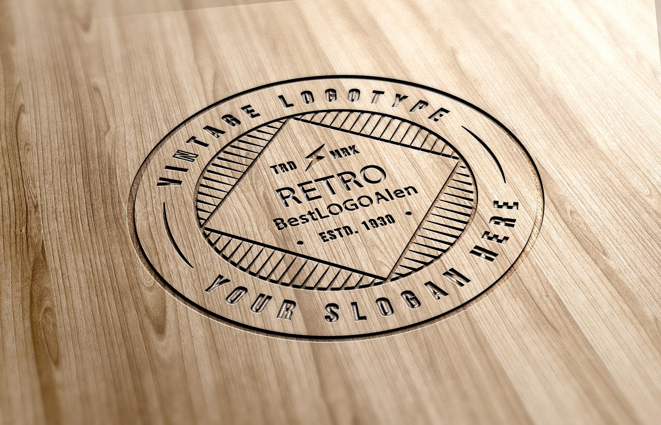 design 3 Retro Vintage Logo