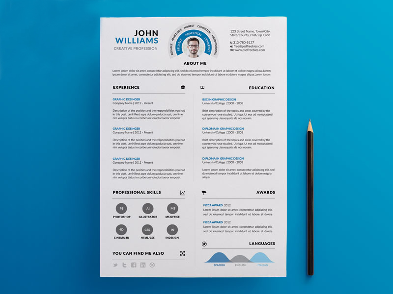 design amazing cv resume for you for  15
