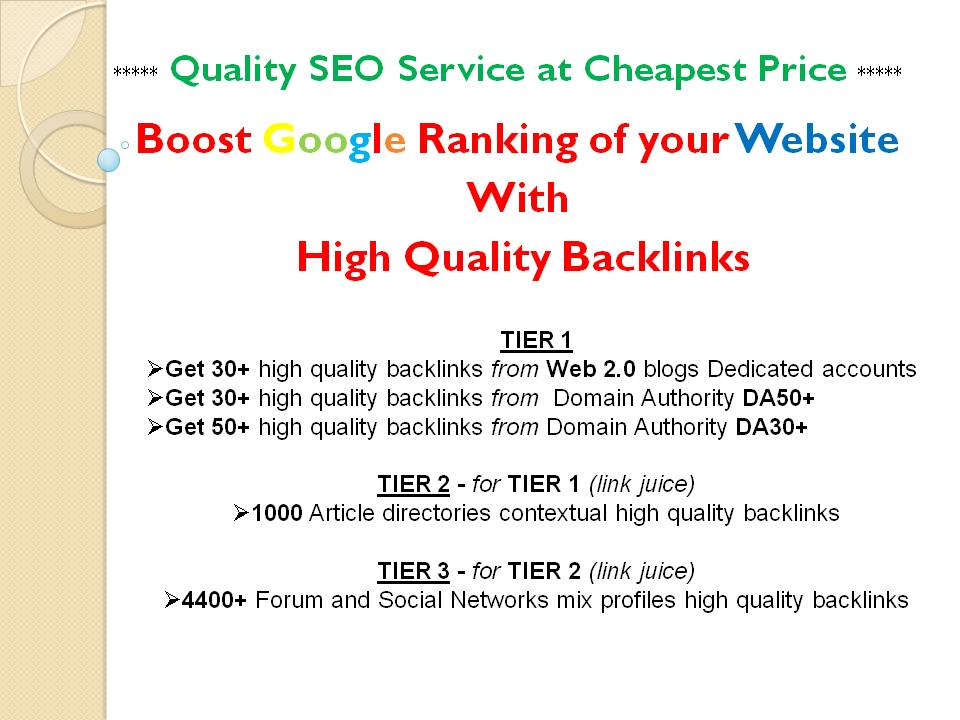 Premium SEO service to Boost Google Ranking