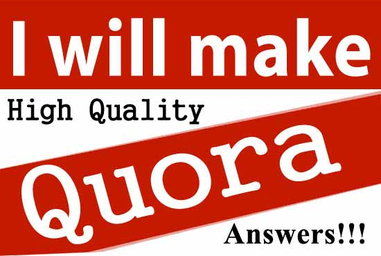 Create 30 unique quora answer backlink