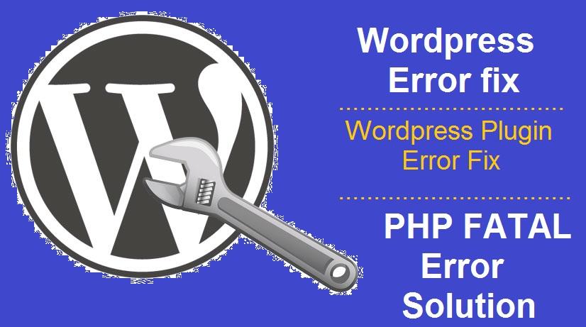 Fix wordpress issues & Error