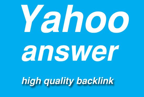 promote 30 yahoo answer with your website