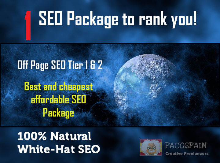 rank you with 1 SEO Package on the search engines