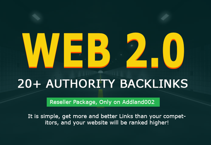 add 20+ Web 2.0 High PR Authority Backlinks within 24 hrs
