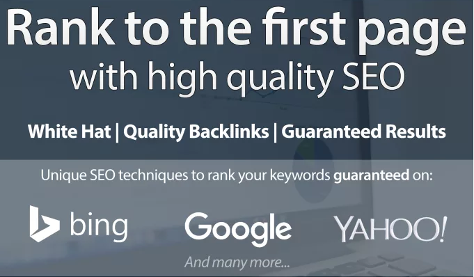 I m rank your website FIRST page of Google incredible 380+ High Authority Seo backlinks.