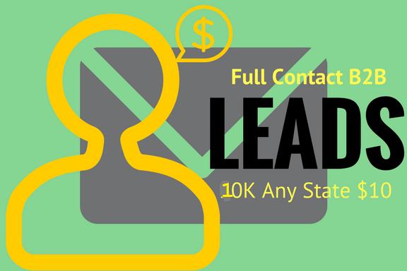 10K Full Contact B2B Leads