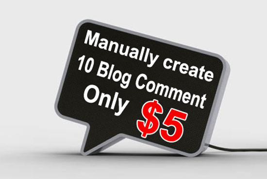 Get high quality 10 blog comments for your website