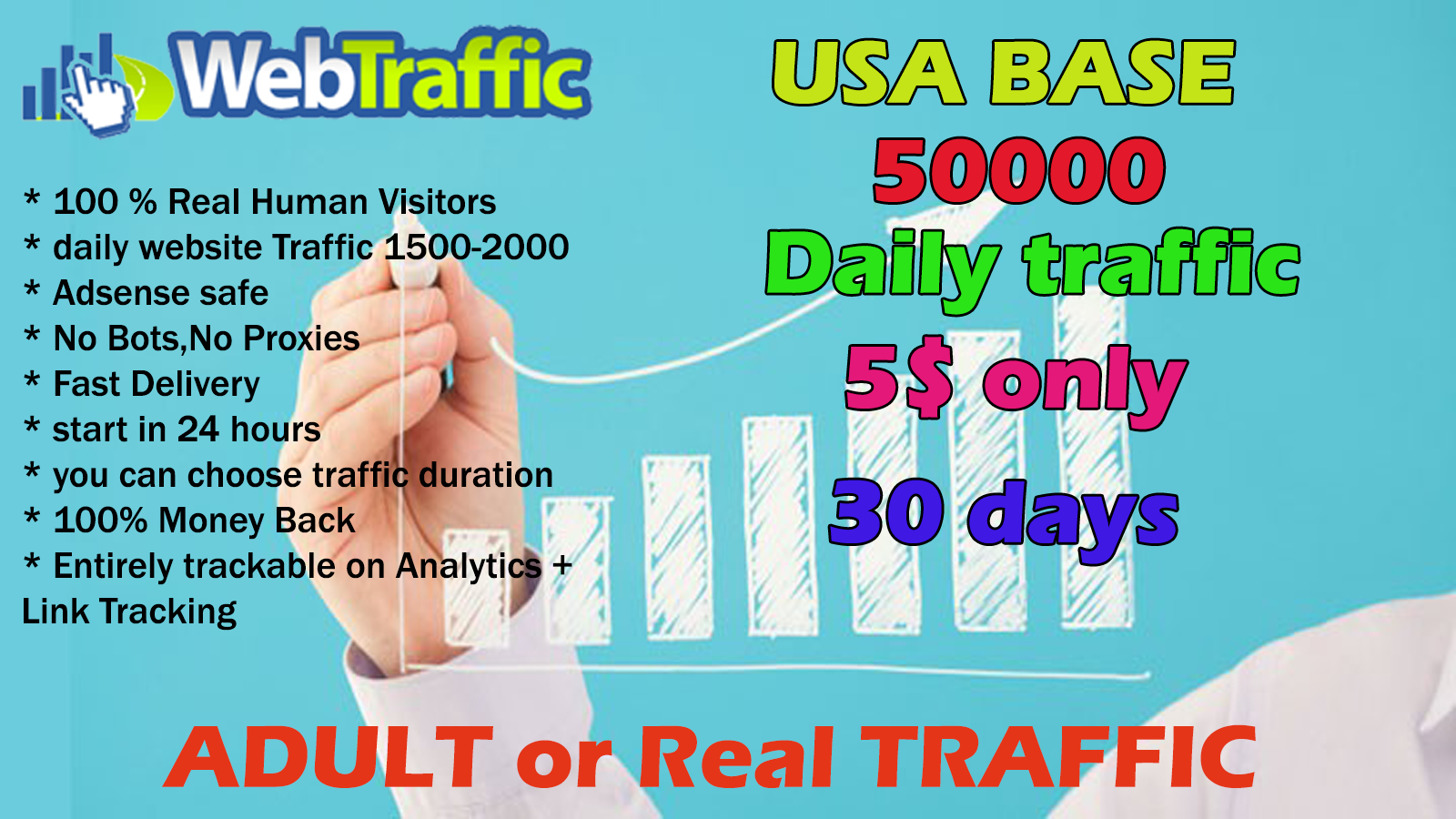 drive daily website traffic until 30 days