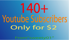 I will give you 140+youtube subscribers
