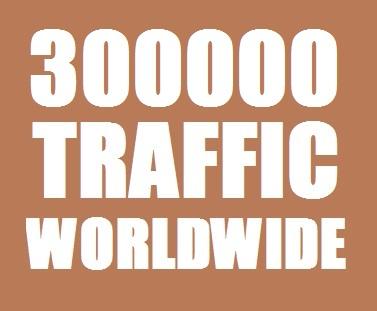 300000 Web Traffic Worldwide for 30 days