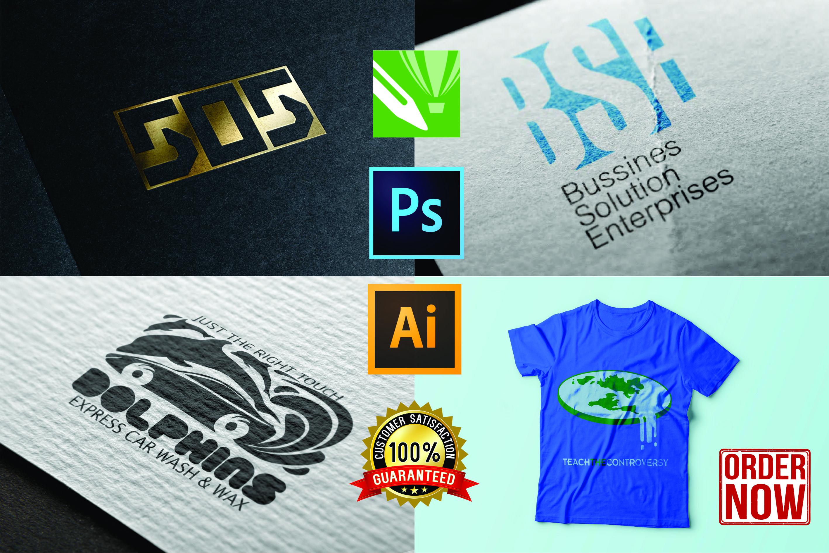 Design 3D mock up logo and t shirt design for you