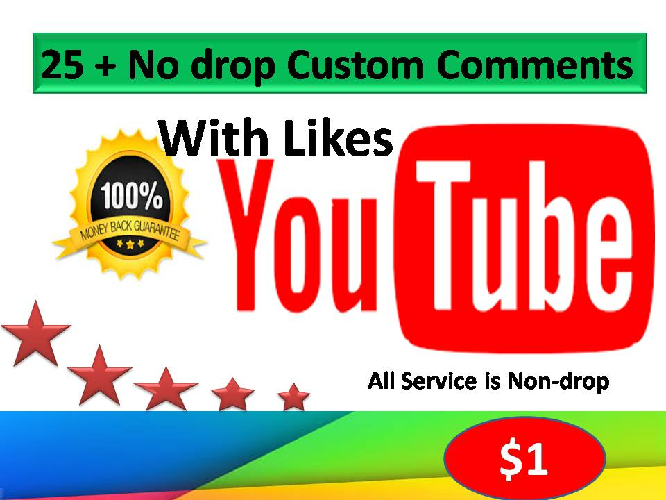 Limited Time Offer 25+ Subs+25+ Likes 25+ non-drop Custom comments  on your Video within 24 Hours Delivery