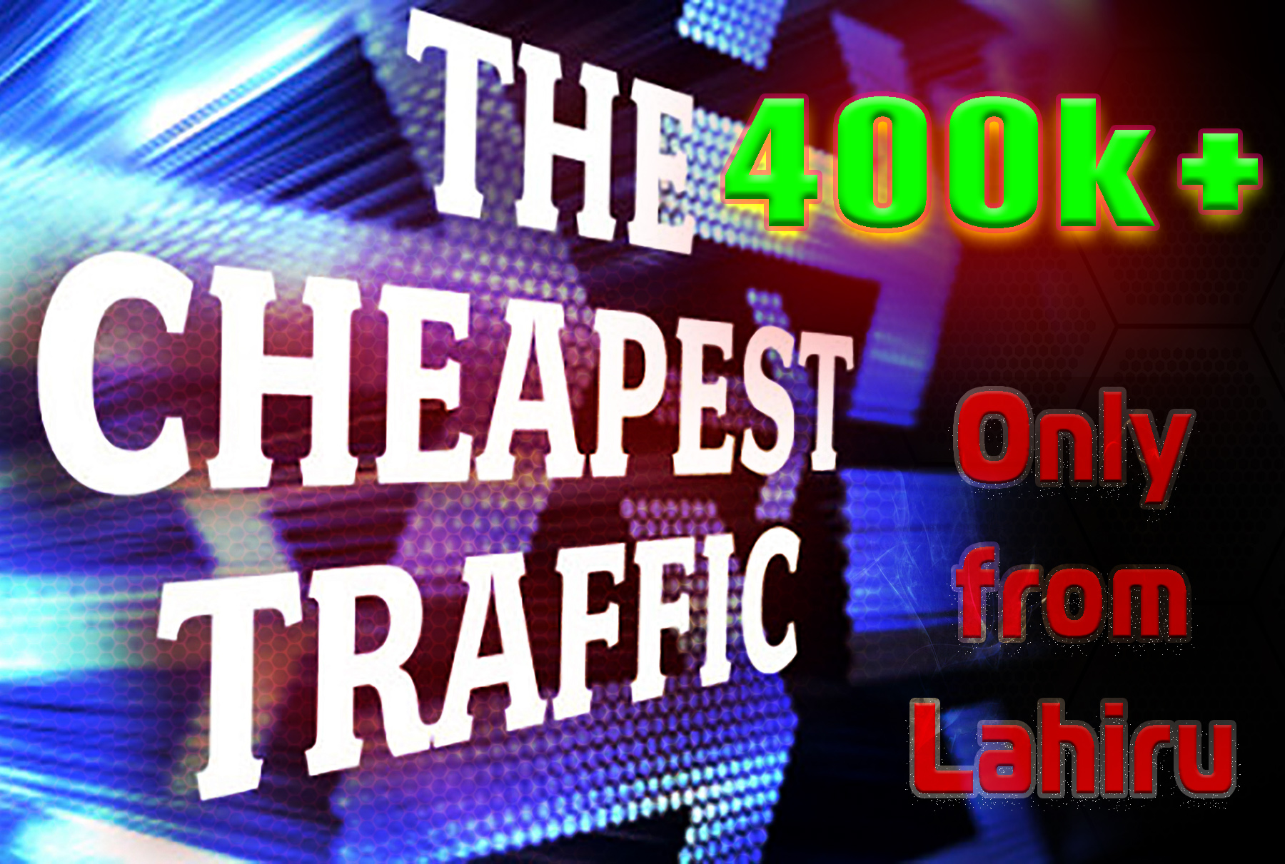 Send 400000+ Human Traffic by Google Twitter Bing Youtube etc