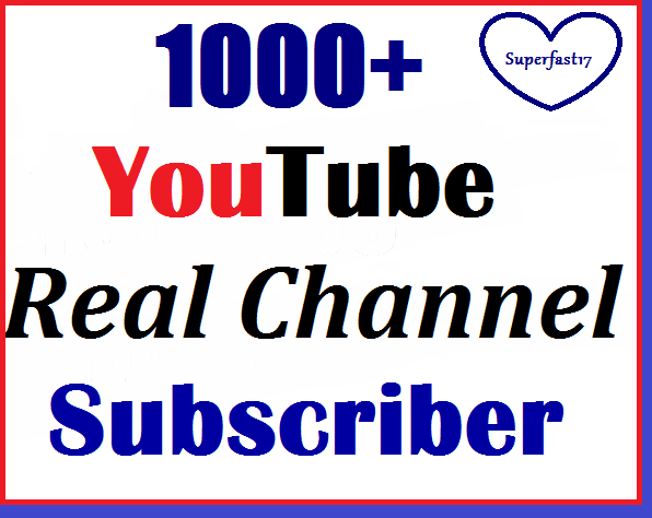 1000+ to 1100+ Youtube subs-criber non-drop and refill guaranted