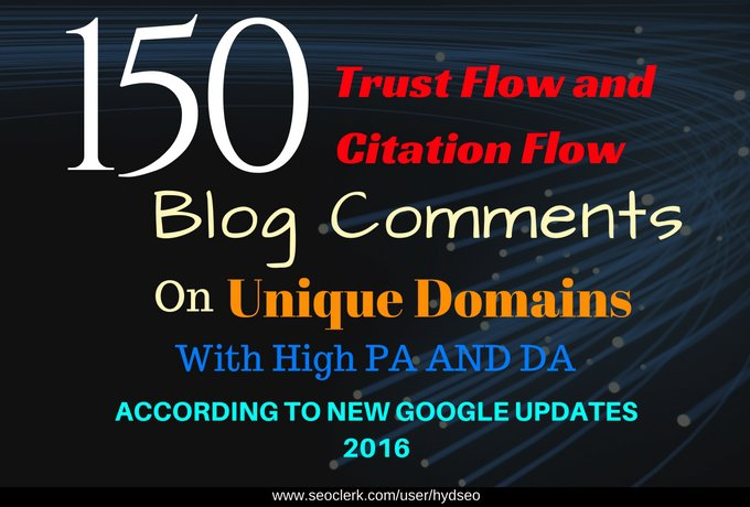 I will provide 150 high trust follow backlinks with high Pa and Da