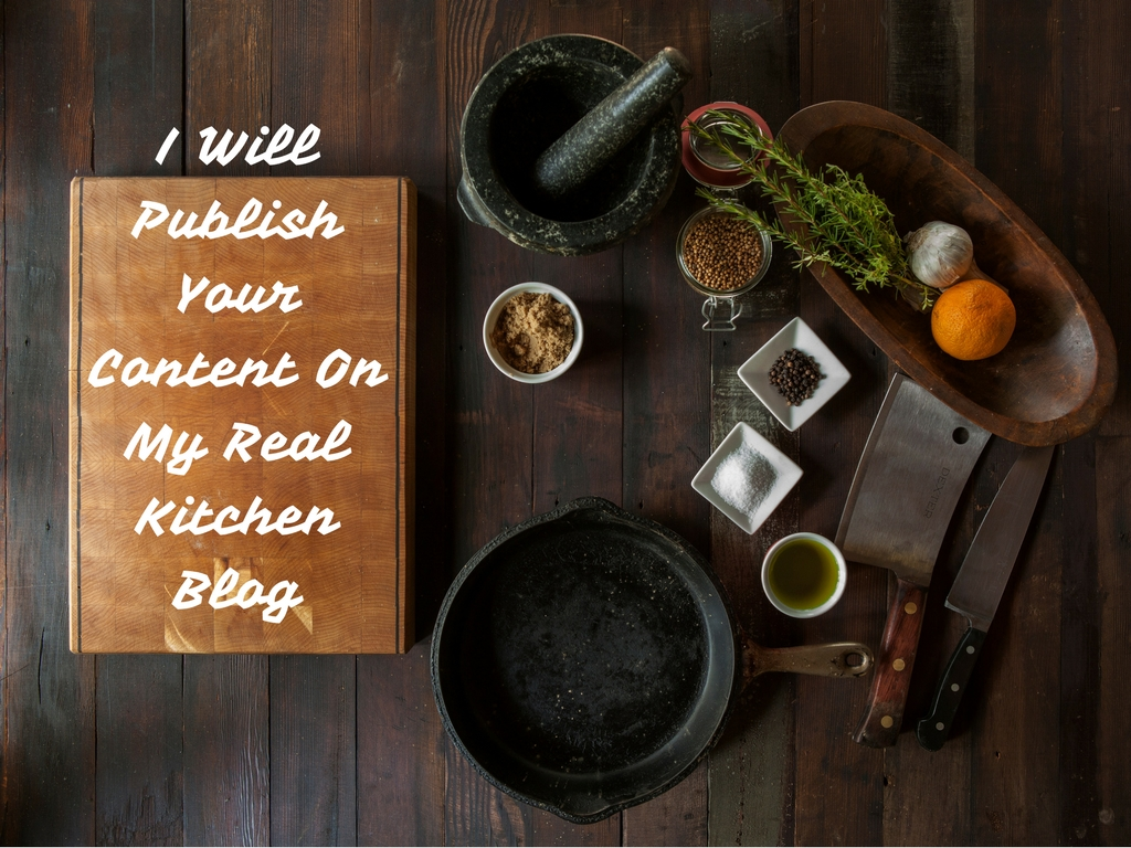 Post Your Content/Article On My Cooking/Kitchen Blog
