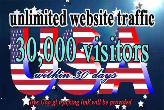 Drive unlimited real website, TRAFFIC, visitors for 30 days