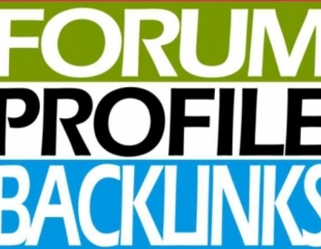 Do 50 High Quality Forum profile back link for your website