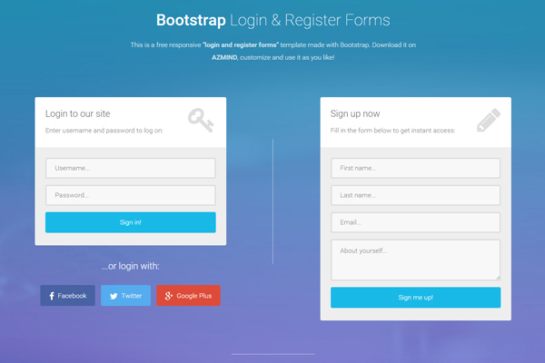 Covert psd to html5, bootstrap, Mail system in php