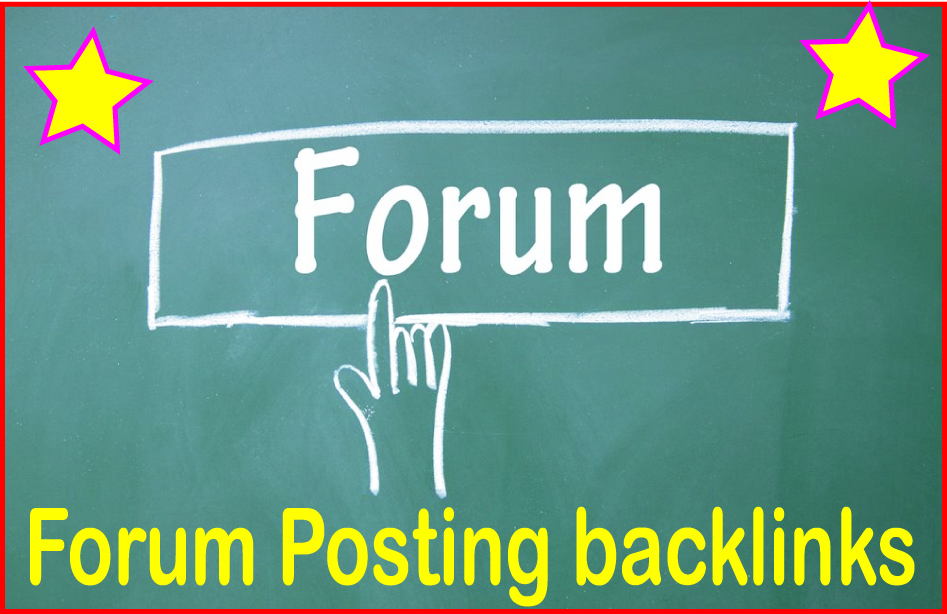 Do 1200 Forum posting backlinks  High PR Metrics Backlinks