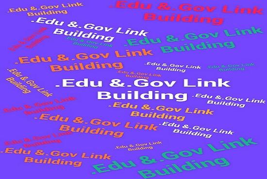 40. edu and. gov high quality backlinks to Rank your website