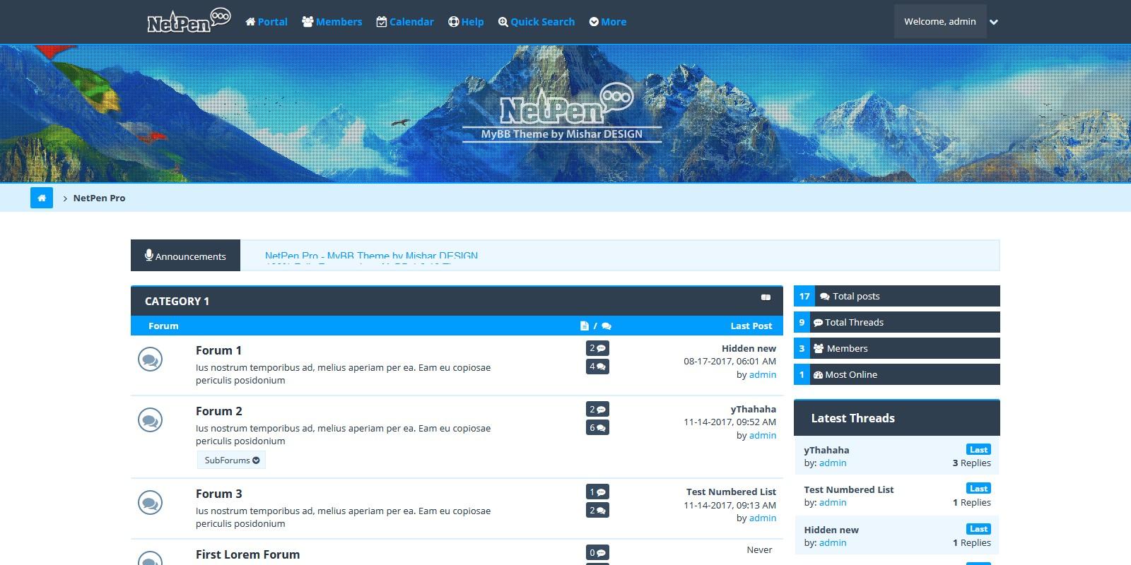 NetPen Pro - MyBB Theme