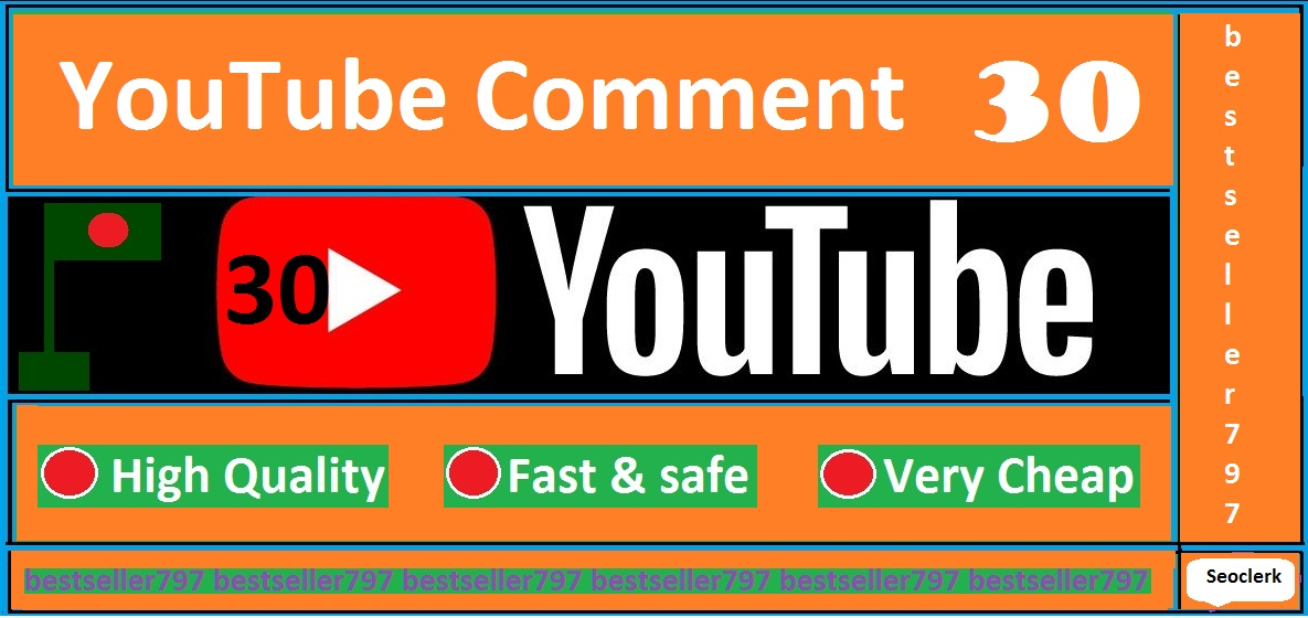 30 custom comments with 30 like free on your link very fast