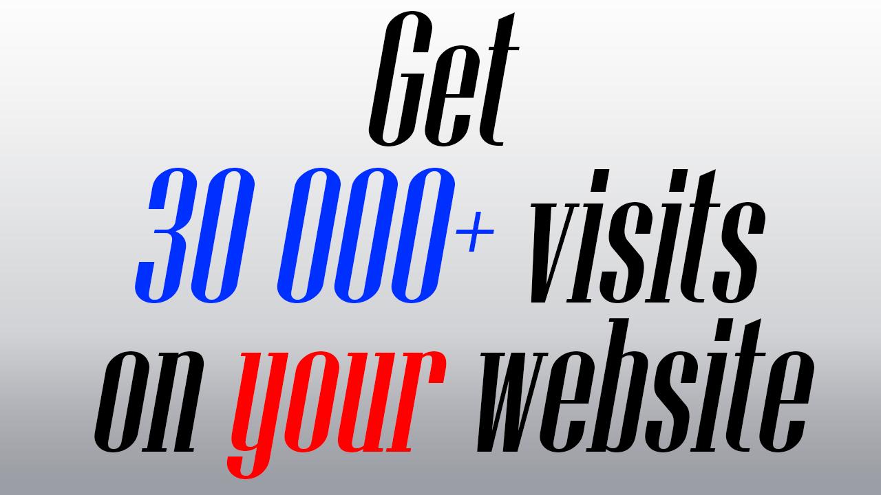 Get 30 000+ visits on your website