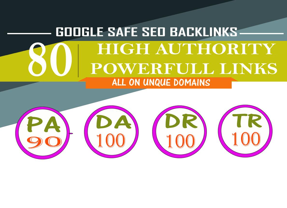 Will MANUALLY Do 80 UNIQUE PR10 SEO BackIinks on DA100 sites Plus Edu Links