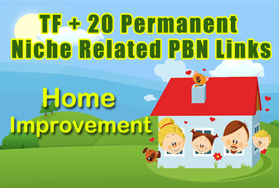 High TF+20 Permanent Home Niche Related PBN Links