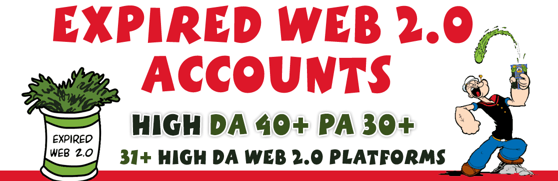 Expired Web 2.0 Accounts DA 40+ PA 30+ 2019 SEO QUICK Ranking Method