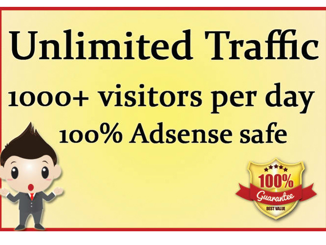 Provide Unlimited Targeted Real Unique Adsense Safe Website Traffic to get Clients